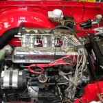 Triumph TR5 Engine bay